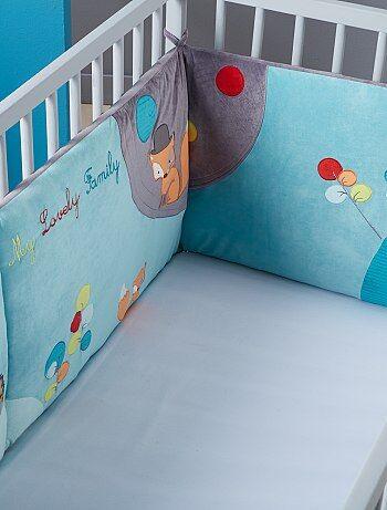 Meisje 0-36 maanden - Fluwelen bedomranding met borduursels in het thema bos - Kiabi