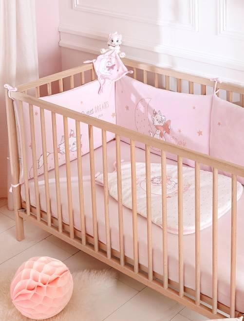 Fluwelen 'Disney' bedomranding roze Meisjes babykleding