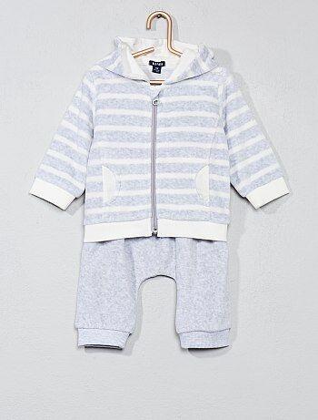 Jongen 0-36 maanden - Fluwelen joggingpak - Kiabi
