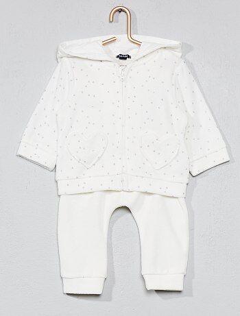 Meisje 0-36 maanden - Fluwelen joggingpak - Kiabi