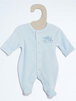 Premature baby - Fluwelen pyjama - Kiabi