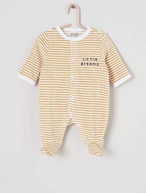 Fluwelen pyjama 'Ecodesign'                                                                             WIT