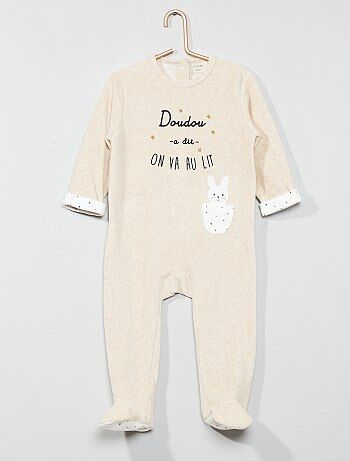 Fluwelen pyjama 'konijn' - Kiabi