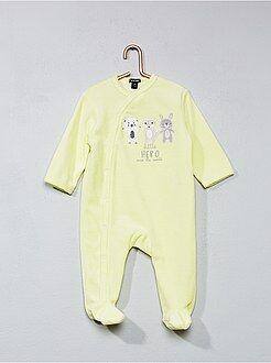 Pyjama, badjas - Fluwelen pyjama met dierenprint - Kiabi