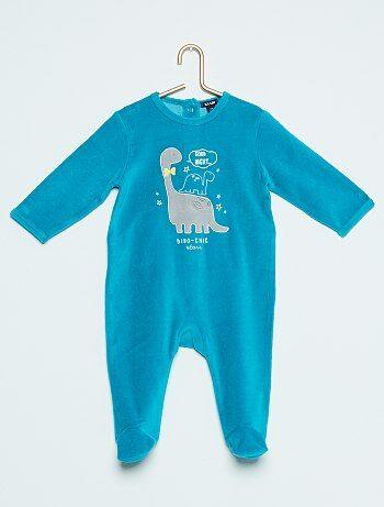 Fluwelen pyjama met dinosaurusprint - Kiabi