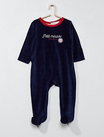 Fluwelen pyjama met matrozenlook - Kiabi