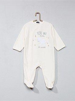 Fluwelen pyjama met schapenprint
