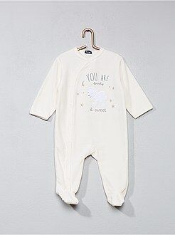 Pyjama, badjas - Fluwelen pyjama met schapenprint - Kiabi