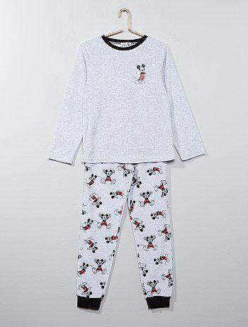 Fluwelen pyjama van 'Mickey Mouse' van 'Disney' - Kiabi