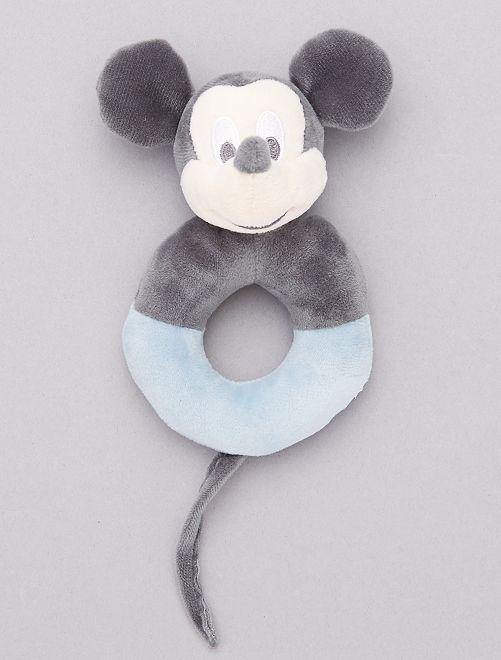 Fluwelen rammelaar van 'Mickey Mouse'                             BLAUW