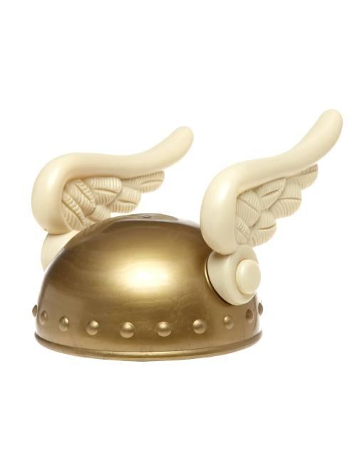 Gallische helm voor volwassenen                             goudkleur Accessoires
