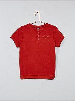 Jongenskleding 3-12 jaar - Geborduurd T-shirt met Tunesische hals - Kiabi