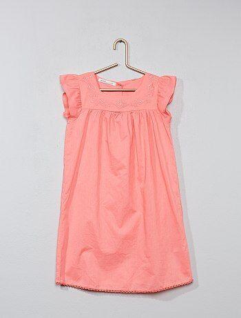 Geborduurde jurk van 100% katoen - Kiabi