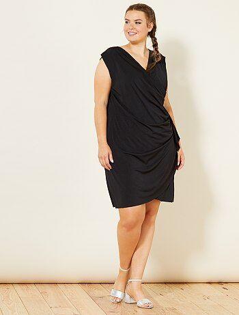 Dames Size+ - Gedrapeerde jurk met print - Kiabi