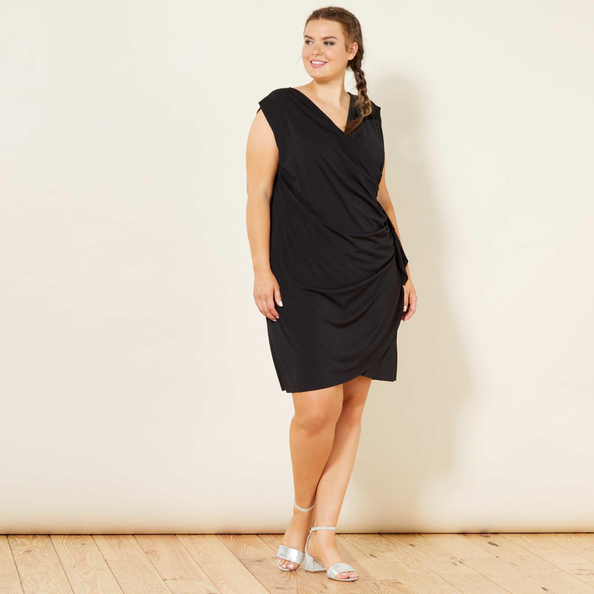 01d75cc47ed44a Gedrapeerde jurk Dames size+ - zwart - Kiabi - 20