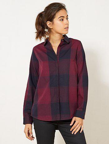 Gekleurde geruite blouse - Kiabi
