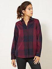 Gekleurde geruite blouse