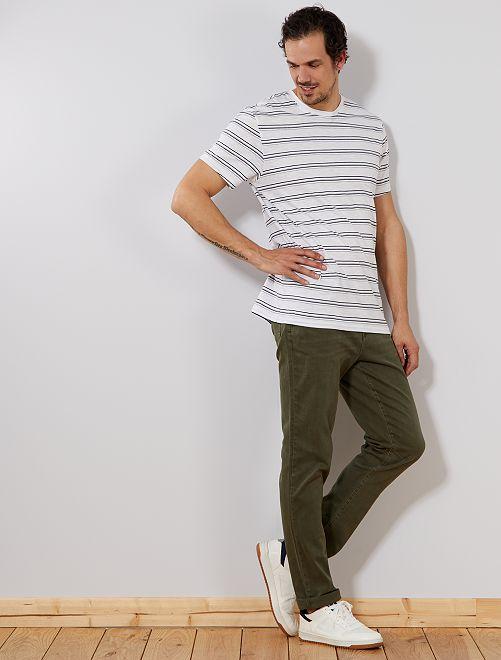 Gekleurde slimfit jeans, lengtemaat 36, 1,90 m+                             donkergroen Heren tall (> 190cm)