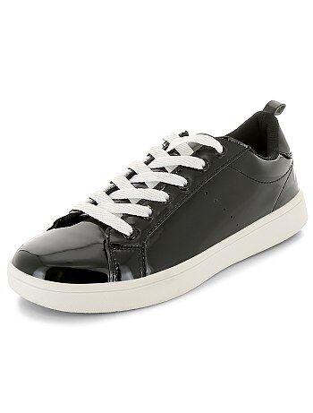 Gelakte lage sneakers met veters - Kiabi