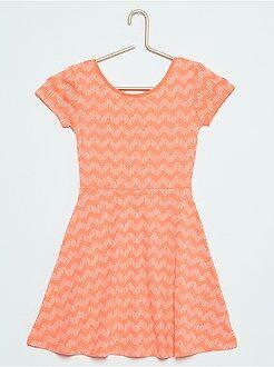 Geplooide jurk met cactusprint
