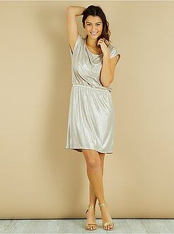 Geplooide jurk met lovertjes - Kiabi