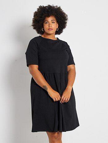 Dames Size+ - Geplooide stretch jurk - Kiabi