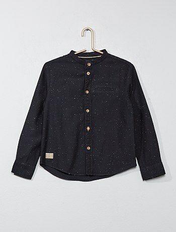 Gestippeld overhemd met maokraag - Kiabi