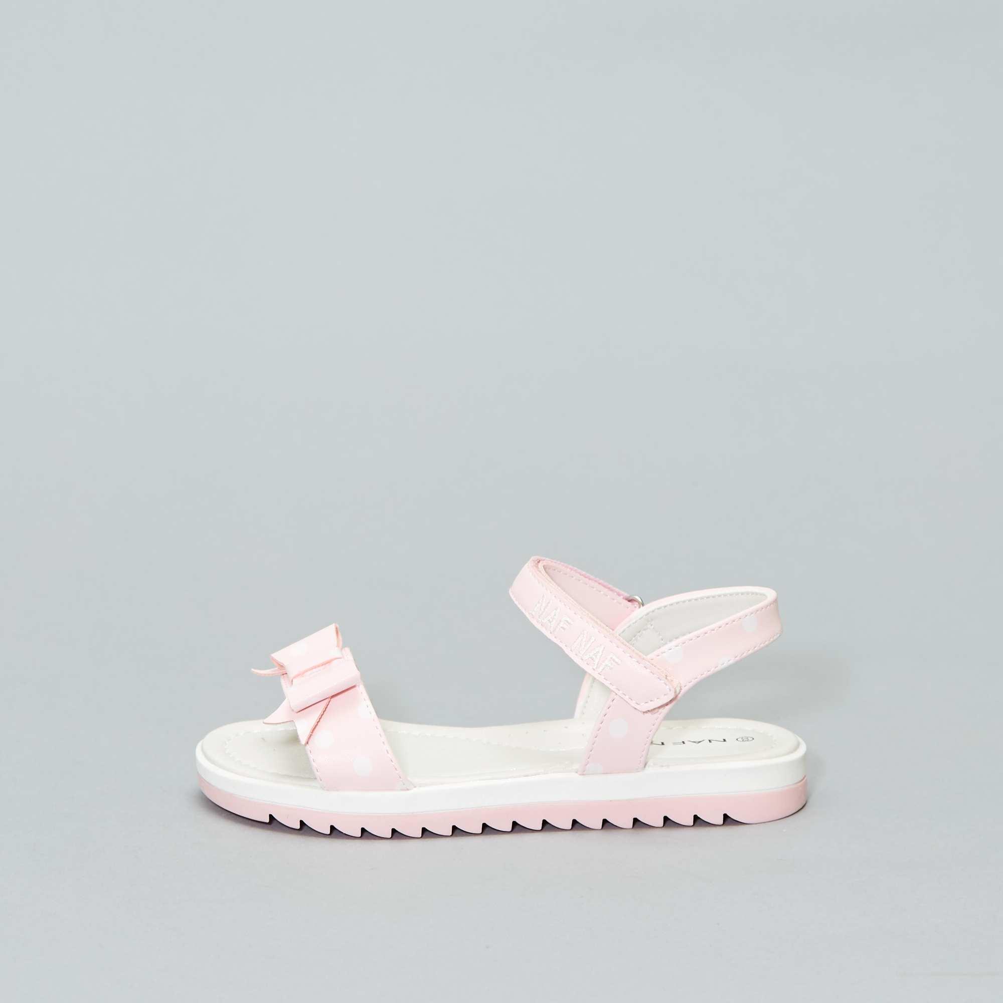 da29f82ca5e Gestippelde sandalen van 'Naf Naf' Kinderkleding meisjes - ROSE ...