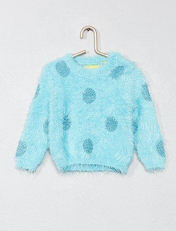 Gestippelde trui van harig tricot - Kiabi