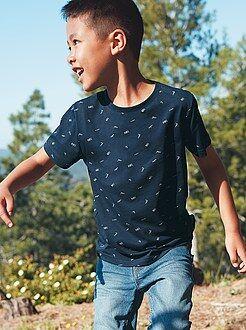 Jongens t-shirts - Gestreept T-shirt van katoen