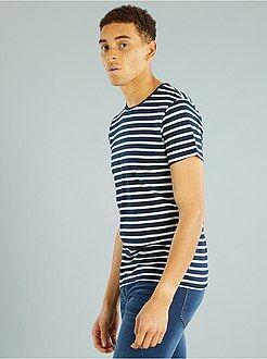 Gestreept T-shirt van tricot