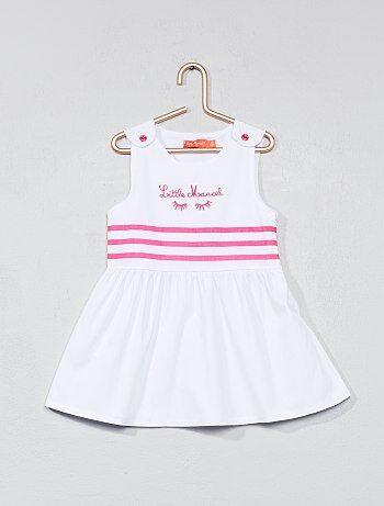 Meisje 0-36 maanden - Gestreepte jurk van 'Little Marcel' - Kiabi