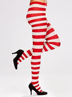 Dames verkleedkleding - Gestreepte panty