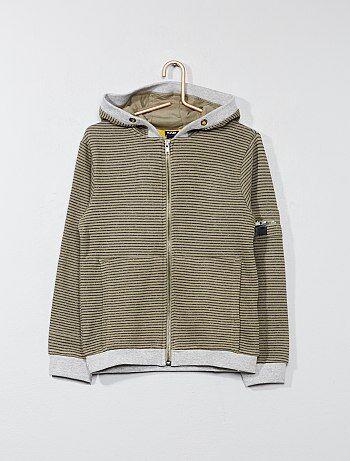 Gestreepte sweater met een capuchon - Kiabi