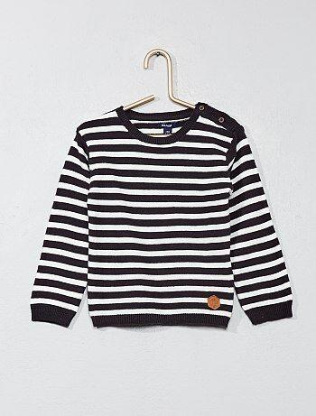 Gestreepte tricot trui - Kiabi
