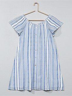 Gestreepte, wijd uitlopende jurk - Kiabi