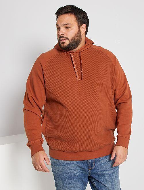 Getextureerde sweater 'Ecodesign'                                         BRUIN