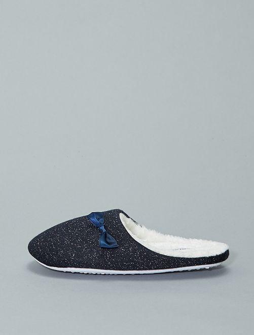 Gevoerde pantoffels                             grijs