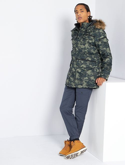 Gewatteerde parka 'Produkt'                             camouflage