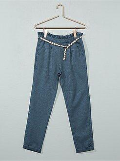 Meisjes broeken - Glanzende broek van gabardine - Kiabi