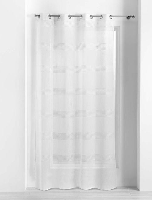 Glasgordijn met opengewerkte details                             wit