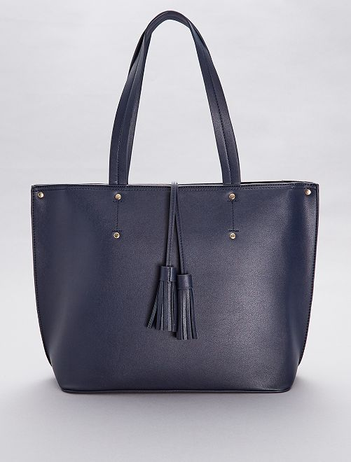 97154cd261c Grote tas met kwastjes Dameskleding - marineblauw - Kiabi - 17,00€