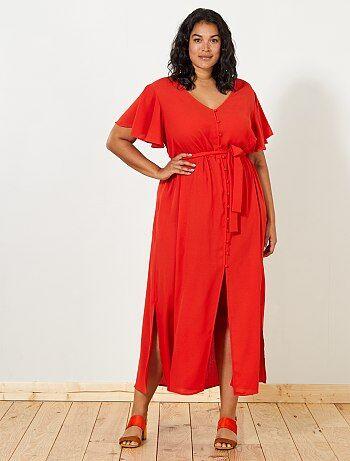 Halflange jurk met print - Kiabi