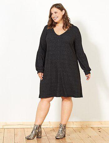 Dames Size+ - Halflange jurk van zacht tricot - Kiabi