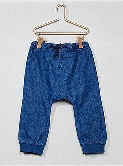 Broek, jeans - Harembroek van lichte denim