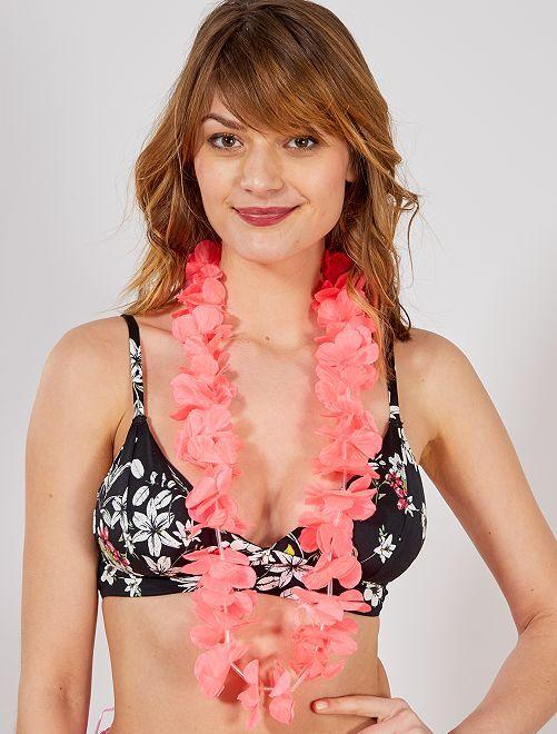 Hawaïaanse ketting accessoire                                                                                         roze