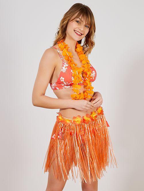 Hawaïaanse rok accessoire                                                                                                     oranje Dames