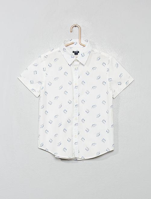 Hemd met print                                                                     BLAUW