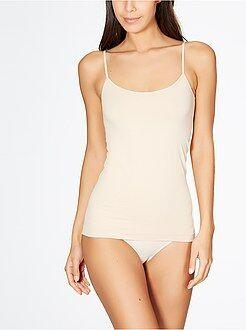 Body, hemdje - Hemdje met smalle bandjes en zonder naden van 'Le Bourget'