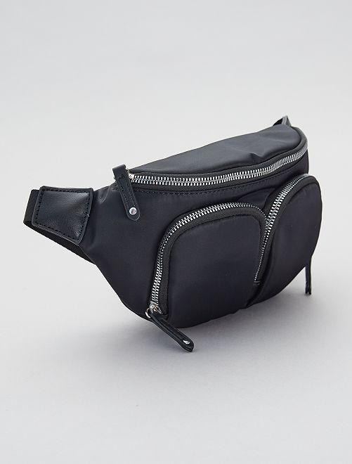 Heuptasje met twee vakken                             zwart